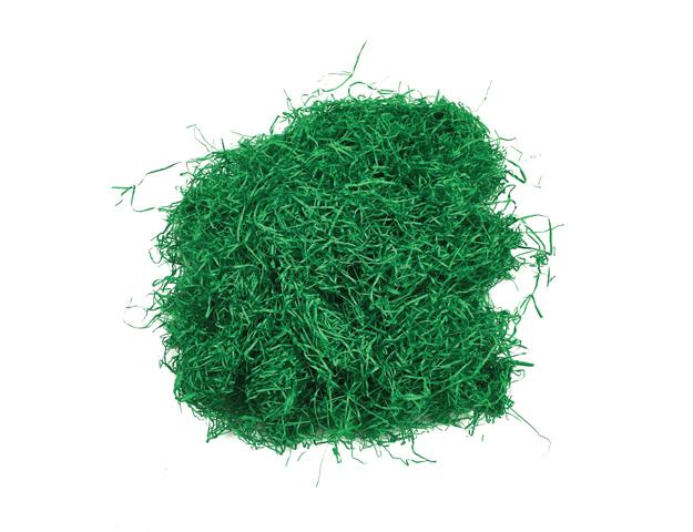 Paja de papel verde