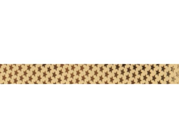 Cinta papel metalizado estrellita oro