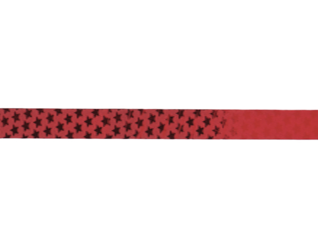 Cinta papel metalizado estrellita rojo