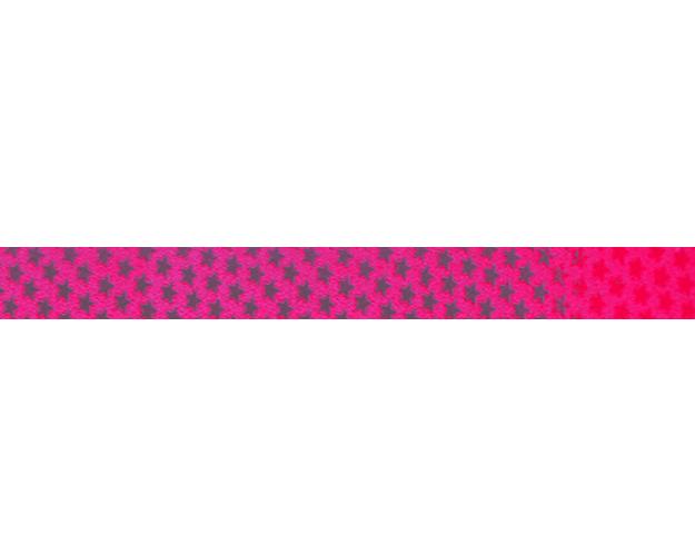 Cinta papel metalizado estrellita rosa