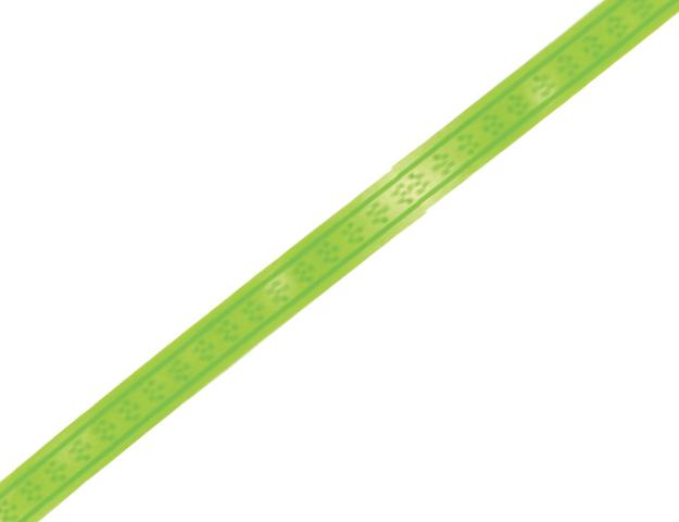 Cinta papel florecitas verde