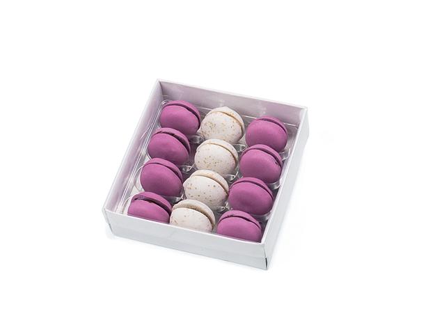 Caja blanca para macarons pequeños con alveolo