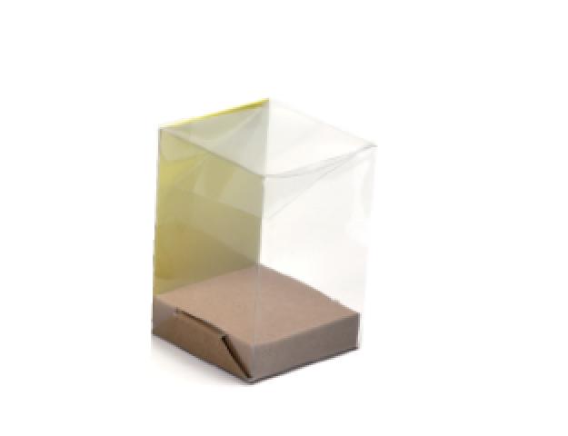 Boîte Visuel kraft-vert
