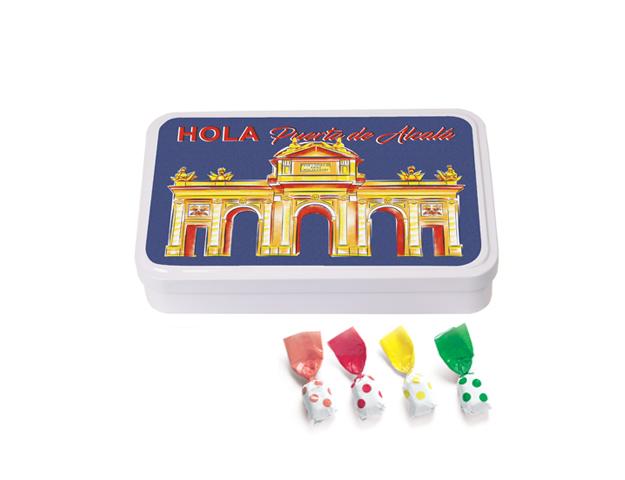 Lata Grande Madrid Alcalá 190 gr caramelo Topos