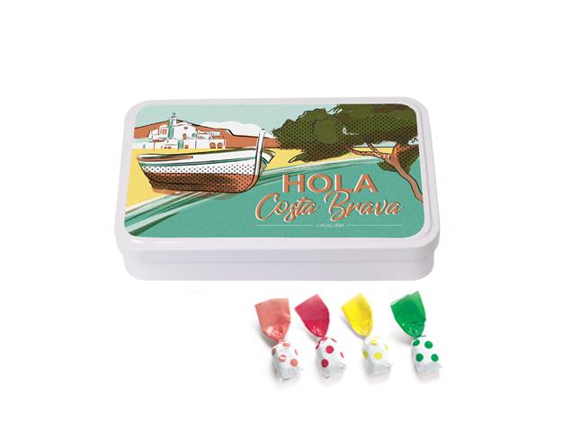 Lata Grande Costa Brava 190 gr caramelo Topos