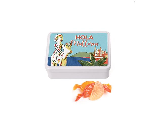 Lata Mediana Mallorca 100 gr caramelo gajos
