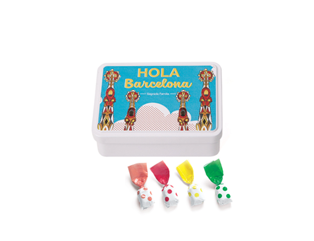 Lata Mediana BCN Gaudí 100 gr caramelo topos