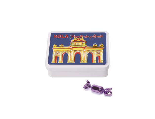 Lata Mediana Madrid Alcalá 80 gr caramelo mini violeta