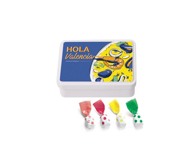 Lata Mediana Valencia 100 gr caramelo topos