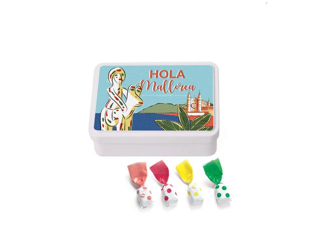 Lata Mediana Mallorca 100 gr caramelo topos