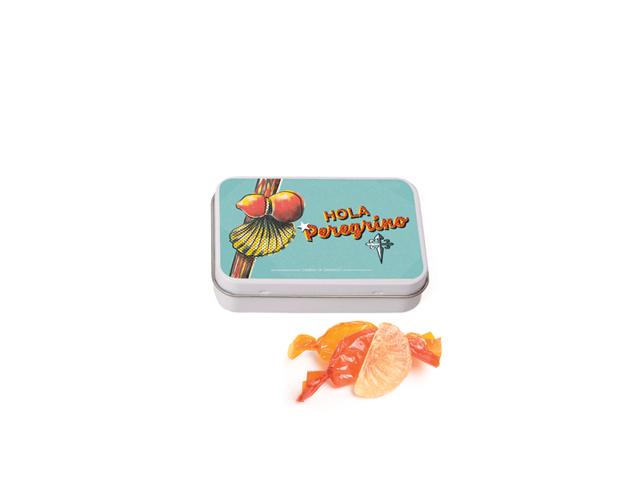 Lata Pequeña Peregrino 50 gr caramelo gajos