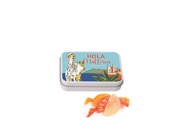 Lata Pequeña Mallorca 50 gr caramelo gajos