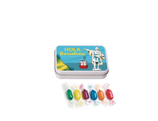 Lata Pequeña BCN Colón 45 gr caramelo mini duro