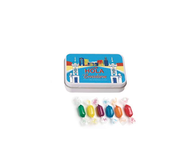 Lata Pequeña Benidorm 45 gr caramelo mini duro