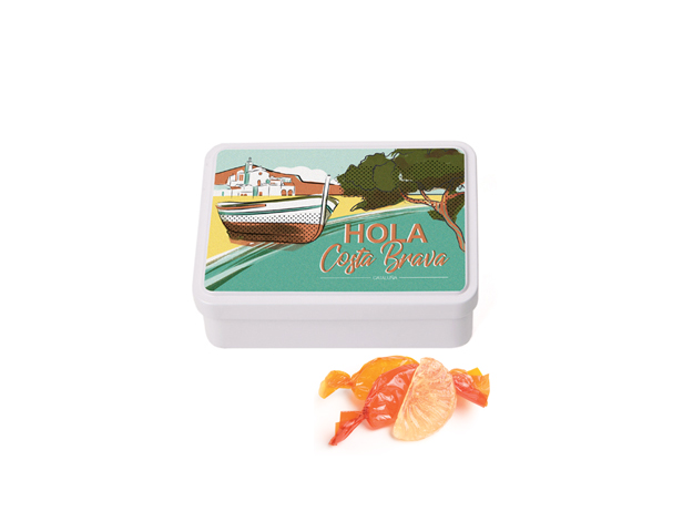 Lata Mediana Costa Brava 100 gr caramelo gajos