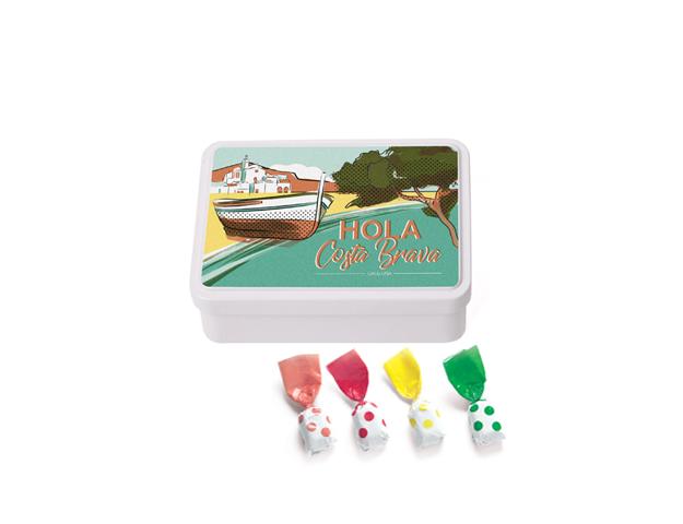 Lata Mediana Costa Brava 100 gr caramelo topos