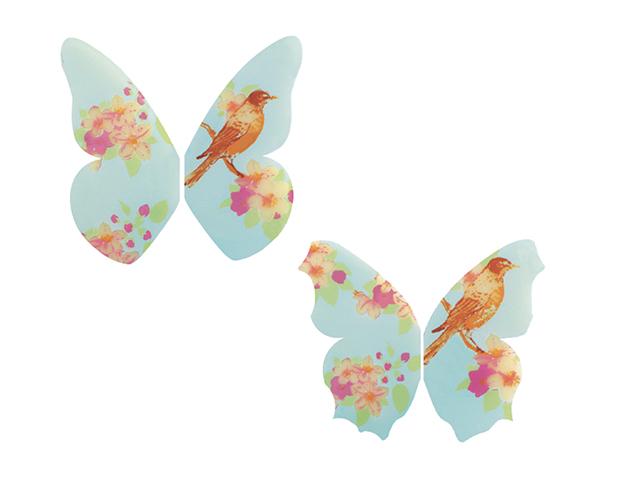 110 Papillons choc. blanc, 10 motifs et tailles