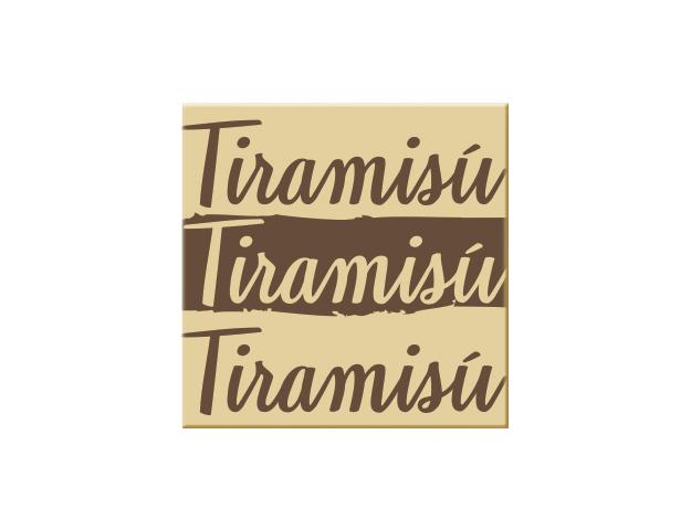 72 carrés  CB Tiramisú 2,5 cm