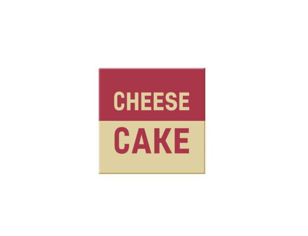 72 carrés  CB Cheese cake  2,5 cm