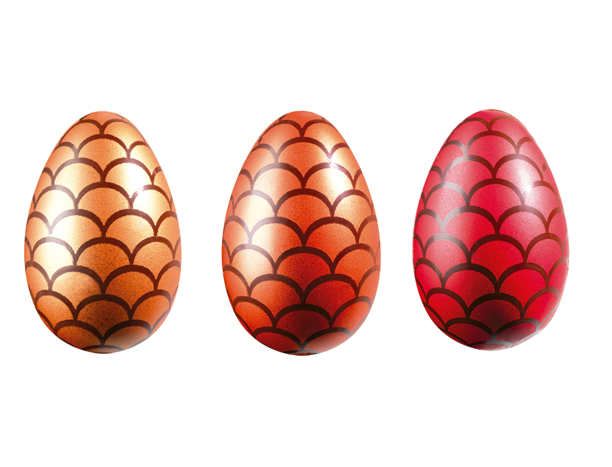 50 Oeufs CN Dragon eggs 3 designs 6x3,9 cm