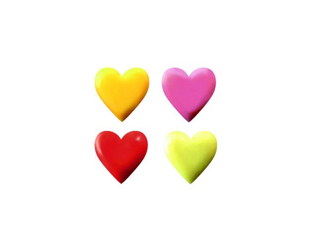 Mini corazones 4 colores