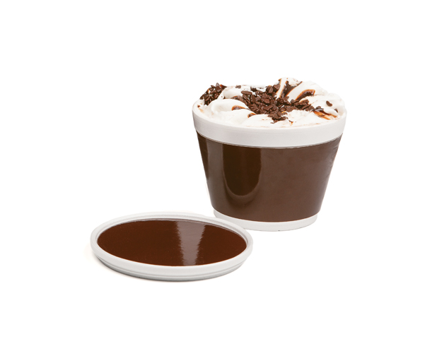 Vaso helado con franja chocolate 230ml/cj.50u