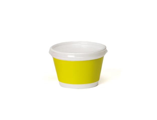 Vaso helado con franja pistacho 230ml/cj.50u
