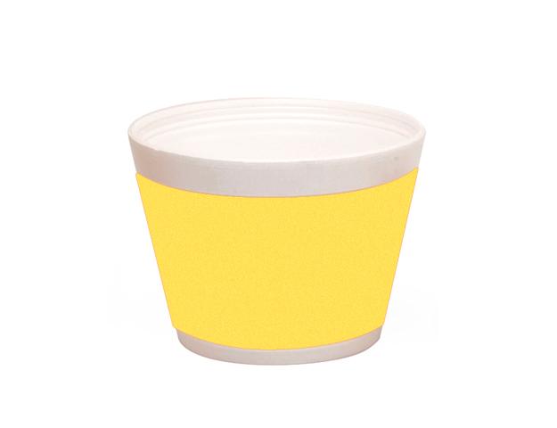 Vaso helado con franja mimosa 400ml