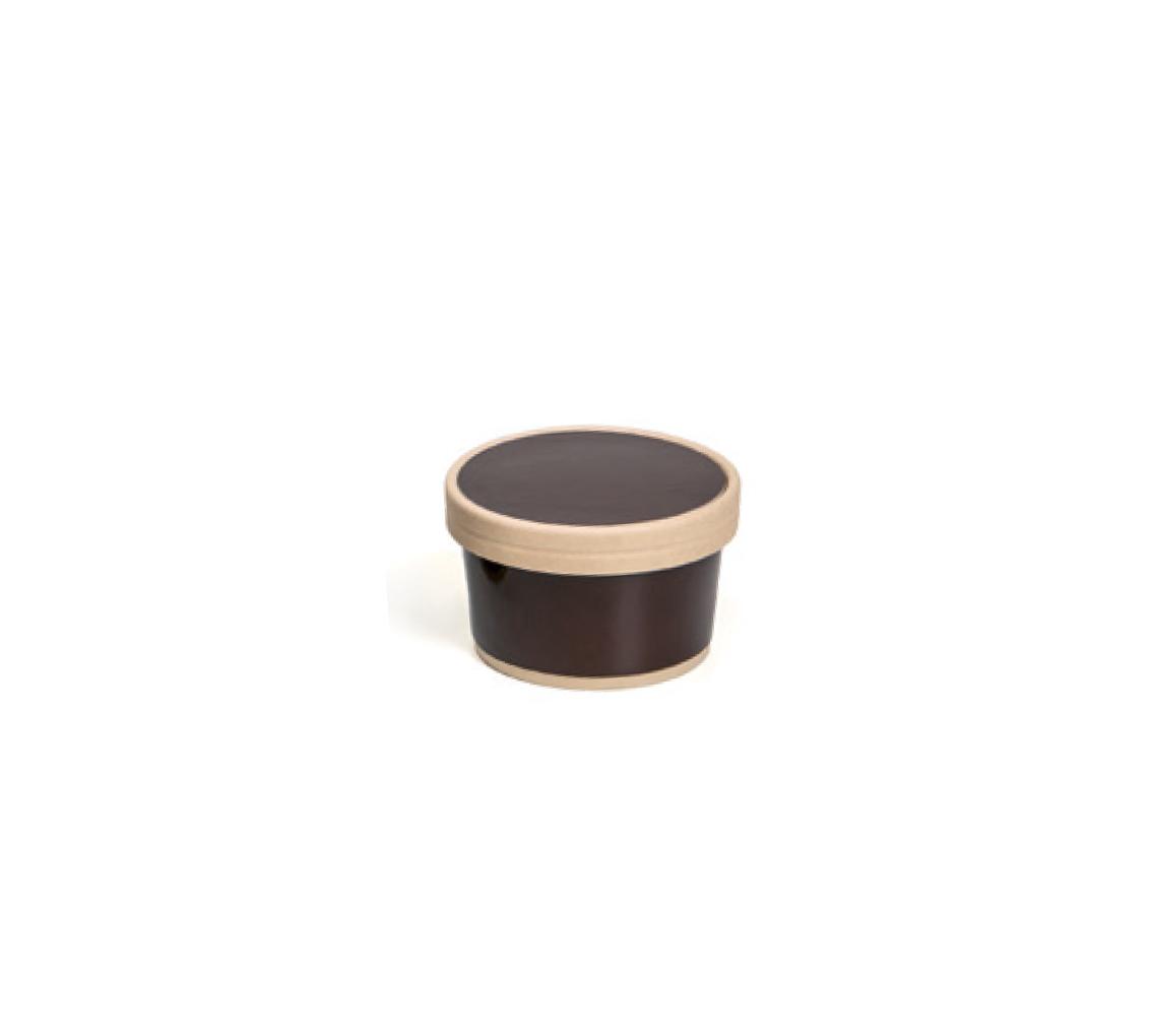 Vaso helado marrón