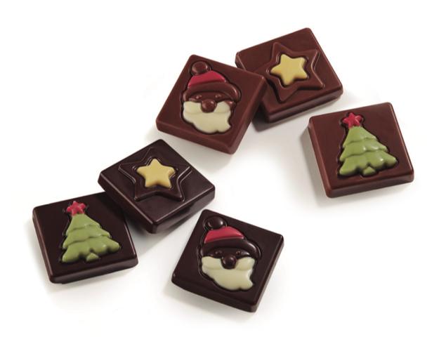 Napolitanas Navidad surtidas